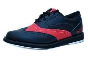 Bowlio Pro Series Strike Red – Chaussures de bowling en cuir noir et rouge, Pointure:36;Farbe (Schuhe):Rouge/Noir