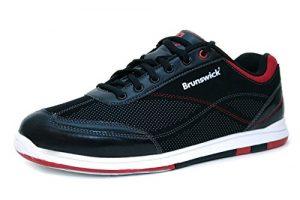 Brunswick Flyer Chaussures de bowling noir – Adulte et enfant, Pointure:39.5, Farbe (Schuhe):Noir/Rouge