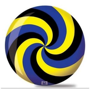 Brunswick Spiral Viz A Ball Bowling Ball- Black/Blue/Yellow (14lbs) by Brunswick Bowling Products