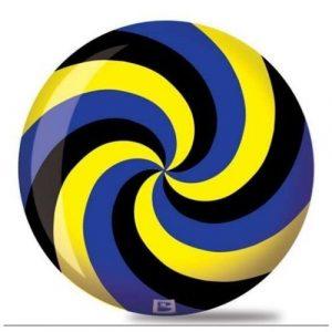 Brunswick Spiral Viz A Ball Bowling Ball- Black/Blue/Yellow (15lbs) by Brunswick Bowling Products
