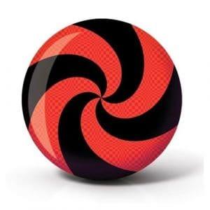Brunswick Spiral Viz A Ball Bowling Ball- Red/Black (6lbs) by Brunswick Bowling Products