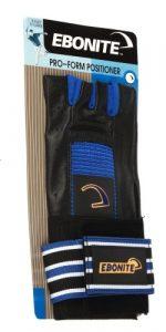 Ebonite Pro Form Gant de bowling positionneur de poignet pour gaucher Noir Taille S