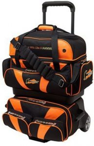 Hammer Premium 4-ball Sac de bowling empilable, noir/orange, taille unique