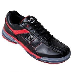 Homme Chaussures de bowling Brunswick x en TPU avec semelle de change/de Houe en cuir véritable Noir Noir/Rouge