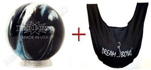 'Bowling Ball – Initiation et d'écartement Ball probowl Blue/Black/Silver 8 lbs jusqu'à 15 lbs + See Saw Football Sac pour nettoyer « Dream Bowl – pour Homme et Femme – droitiers et gauchers, blau gelb weiß grün rot orange braun schwarz rosa
