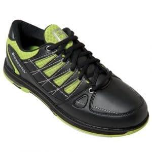 Brunswick arrow chaussures de bowling larges pour homme noir/citron vert black lime 43.5