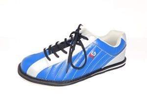 Chaussures de bowling, 3G Kicks, Homme et Femme, pour droitiers et gauchers en 7couleurs Chaussures Taille 36–48, Bleu/argent