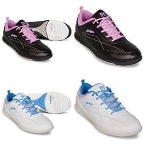 Chaussures de bowling, KR Strikeforce Capri, pour enfants, pour droitiers et gauchers en 2couleurs et femme chaussures taille 36–41, noir/rose