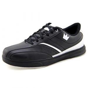 Brunswick Vapor Chaussures de bowling pour femme et homme–Différentes couleurs Taille 39–47, noir/argent, 41