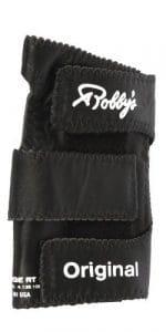 Robby's Gant de bowling droit en cuir véritable noir Noir moyen
