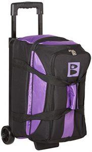 Brunswick Blitz double Sac de bowling à roulettes–Nombreuses couleurs disponibles, violet