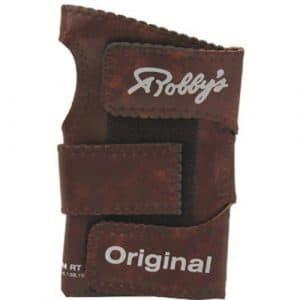 Robby's vinyle Original Gant de Bowling avec Support de poignet pour droitier Marron Marron moyen