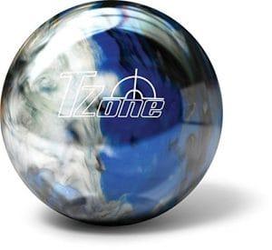 Brunswick Boule de Bowling de Bowling Zone T Cosmic–Indigo Swirl