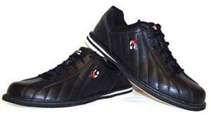 Chaussures de bowling 3G Kicks, pour homme et femme, pour droitiers et gauchers, noir