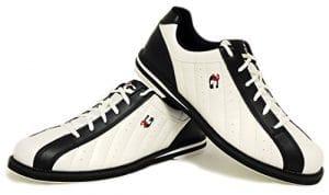 Chaussures de bowling 3G Kicks, pour homme et femme, pour droitiers et gauchers, blanc/noir