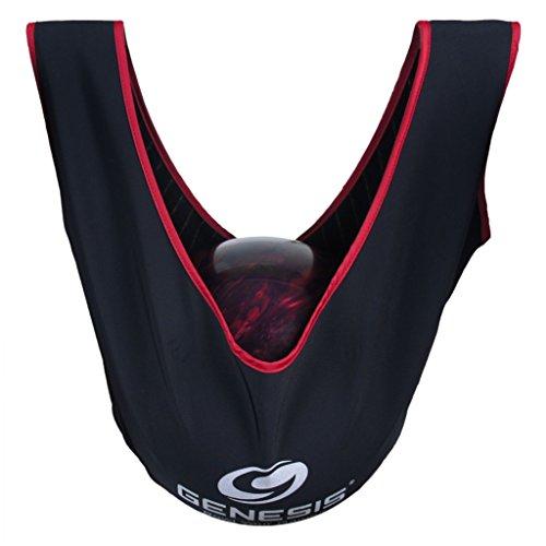 GENESIS Chiffon de polissage, Sac de bowling, poche pour Giant See Saw Deluxe, nettoyant de bowling, Ball, couleurs assorties, noir/rouge