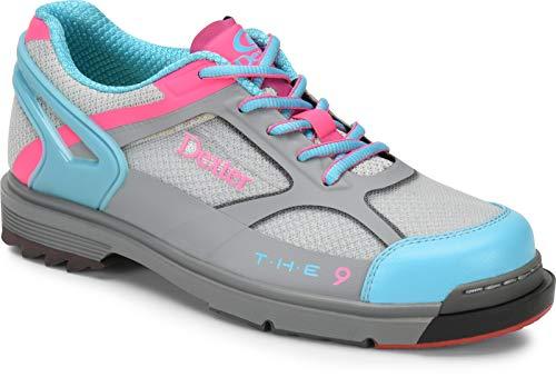 Dexter The 9 HT Chaussures de Bowling Haute Performance pour Femme avec Semelle Amovible Gris/Bleu/Rose, Taille 40