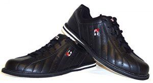 3G Kicks Chaussures de bowling, pour homme et femme, pour droitiers et gauchers, en 4couleurs, taille 36-48, Schwarz, 43 (US 10.5)