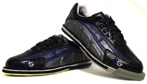 3G Tour Ultra en cuir véritable cuir de kangourou Chaussures de bowling pour homme et femme chaussures, pour droitiers et gauchers, Paragraphe, beaucoup de changement de couleurs disponibles, Professionnel, Semelle de changement de chaussures et accessoires, bleu/noir/argent, schwarz/blau