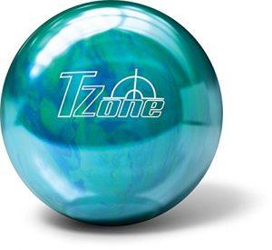 Boule de bowling de bowling Brunswick Zone T Cosmic–Caribbean Blue, 11 lbs