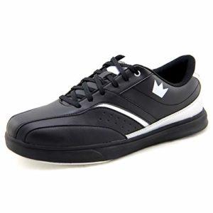 Brunswick Vapor Black Silver Chaussures de Bowling pour Homme avec tirettes – Noir – Noir, 43 EU