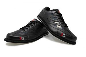 Chaussures Bowling 3G Cruze Homme et Femme, Homme, Femme, Droitier et Gaucher 4 Couleurs Pointures 36-46, Noir, 45.5