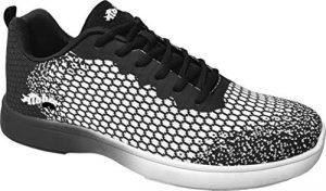 Chaussures de Bowling Aloha HexaGo, pour Homme et Femme – Taille 35-49 – Multicolore – Noir/Blanc, 45 EU