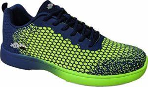 Chaussures de Bowling Aloha HexaGo, pour Homme et Femme – Taille 35-49 – Multicolore – Vert/Bleu, 37 EU