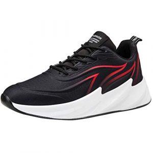 CIELLTE Chaussures De Course Sneaker Chaussures à Lacets Homme Chaussures De Sport Chaussures Rouge De Marche Populaires Respirantes Basket-Ball Basket Mode Running Shoes ÉTé