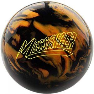Columbia Messenger – Surface nacrée Noir/doré – Boule de Bowling réactive pour débutants et Joueurs de Tournoi – Comprend Un nettoyant pour Ballon EMAX 100 ML, 14 LBS