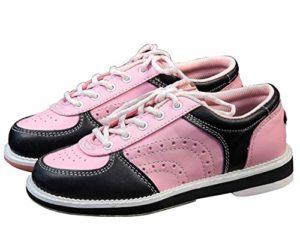 CS Femme Chaussures de Bowling en Cuir pour Les Enfants de Jeunes Filles Garçons et Fillettes