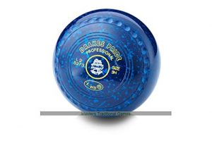 Drakes Pride Professional Bowls – Blue with Blue speckles, gripped, Size 3, Heavy