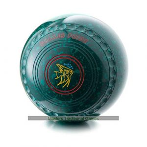 Drakes Pride Professional Bowls – Green with Green speckles, gripped, Size 3, Heavy