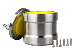 Huanyu Pot de meulage de boule de vide rayé par unité centrale d'acier inoxydable de 1000ml 304 pour le broyeur à boulets planétaire de laboratoire