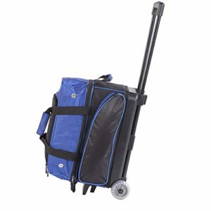 KXDLR Sac Bowling Trolley Transparent Ronde Double Boule Sac,Bleu