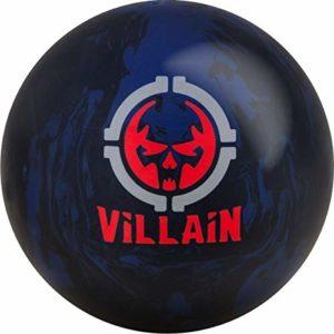 Motif Villain Noir/Bleu/Rouge Solid Surface Réactive Bowlingball pour débutants et Joueurs de Gymnastique – La Boule de Bowling Peut Faire Un Grand Mouvement de Ballon, 12 LBS