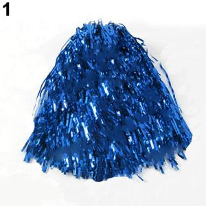 osmanthusFrag 1Pc Pom Poms de Pompons métalliques Cheerleading Dance Party Team Match Aid, Bleu