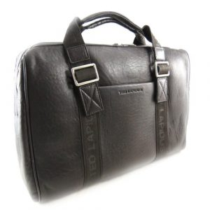 Ted Lapidus [J5068 – Sac Week-End Cuir Marron Vintage