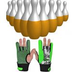 WUJIEXIAN-JXL Grip Bowling Gant de Boule de Bowling Support de Poignet, 1 Paire Gants de Conduite (Couleur : Green, Taille : L)