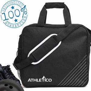 Athletico Essential Sac de Bowling avec Support rembourré pour Boules de Bowling, Noir