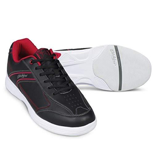 EMAX KR Strikeforce Flyer Chaussures de Bowling pour Homme et Femme 6 Couleurs Pointure 38 à 48 au Choix avec Chaussures Titania Foot Care (Lite Rouge/Noir, US 6,5 (39))