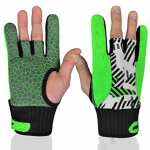 ZHANGQIAO-AE Grip Bowling Gant de Boule de Bowling Support de Poignet, 1 Paire Gants de Sport en Plein air (Couleur : Yellow, Taille : M)