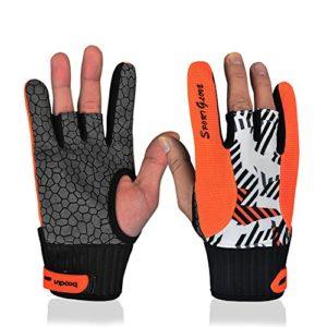 Professional antidérapante de bowling Bloves confortable de bowling pour accessoires Semi-finger Instruments Sports Gants Moufles pour bowling, Orange