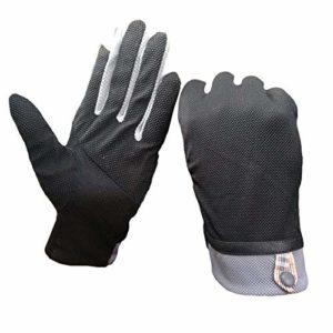 YJF Gants de Conduite pour Hommes et Femmes Coton écran Tactile Antiderapant Gants UV Protection Contre Le Soleil pour Le Cyclisme Moto Camping,Noir