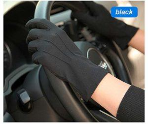 YJF Gants de Protection Solaire Protection UV Gants Gants d'été Sunblock écran Tactile pour l'équitation de Conduite,Noir