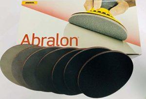 Abralon Patte Abrasive Tous Les Grains Ø 150 mm Non perforé Parfait pour préparer et Nettoyer Votre Bowling Ball, 500 Grit