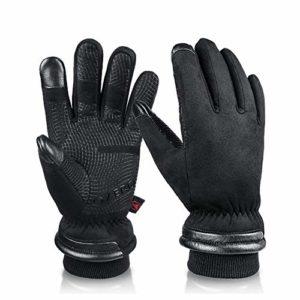 DADD Gants d'hiver imperméables pour homme, écran tactile, coupe-vent et antidérapant, pour moto, escalade, randonnée, cyclisme, chasse Style européen. XL couleur