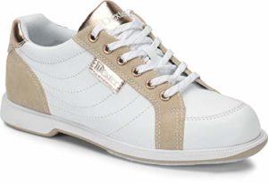 Dexter Groove IV – Chaussures de Bowling pour Femme – Blanc/Nubuck/Or Rose – Extra Large – Chaussures de Bowling pour droitiers et gauchers – Tailles 36 à 41 et Mein-Bowlingshop, 35