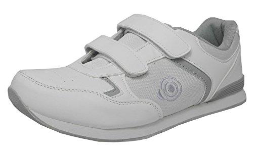 Chaussures de bowling avec bandes velcro‑Semelle légère – blanc – blanc,