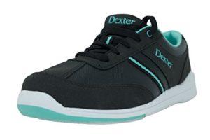 Dexter Dani Chaussures de bowling pour femme, pour droitiers et gauchers Chaussures Taille 36–41, Schwarz Türkis